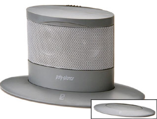 Graphite Oval Slimline Pop-up Speaker