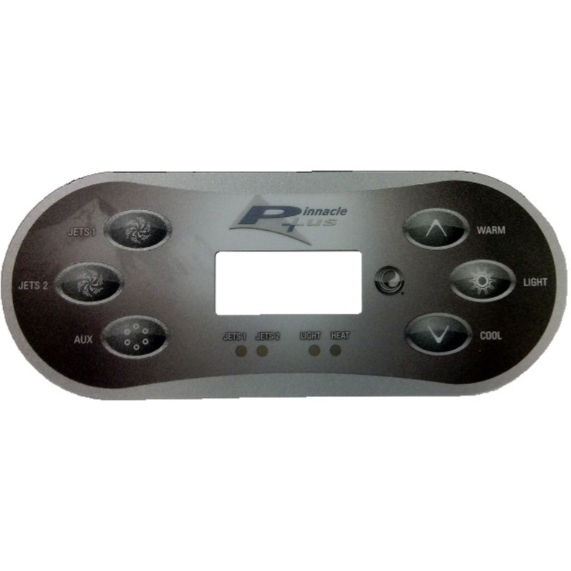 Balboa Topside Overlay - for TP600CE Pinnacle Plus 6-button -13309