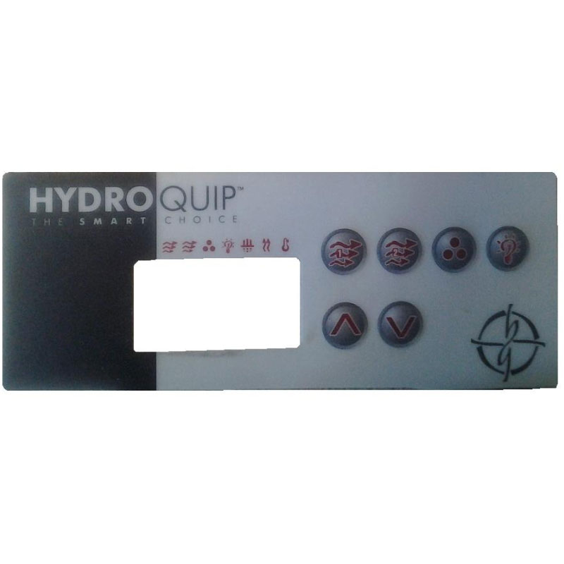 Hydro Quip Topside Overlay ECO3 6-button  80-0203